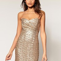 TFNC | TFNC Bandeau Sweetheart Sequin Dress at ASOS