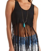 Racerback Fringe Crop Top