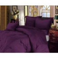 Egyptian Bedding 1500 Thread Count, 1500 Tc 4 Piece Bed Sheet Set, California King, Plum Solid