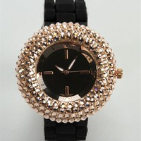 Black Rose Gold Watch