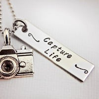 Stainless Steel hand stamped camera by StampedMemoriesbyMel