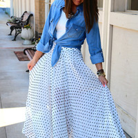 Precious in Polka Dots {Maxi Skirt}