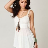 New Romantics Fringe Cami Tunic at Free People Clothing Boutique