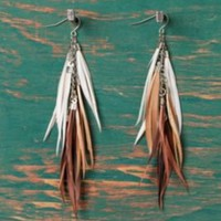 Kenya Feather Earrings at Free People Clothing Boutique