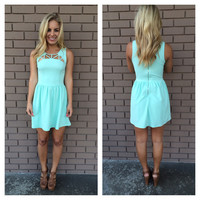 Mint Cut Out Bailey Dress