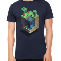 Minecraft A Day In The Blocky Life Slim-Fit T-Shirt