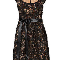 Oscar de la Renta Floral-appliqu?d lace dress
