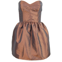 Chocolate Mini Bell Shape Party Prom Dress | Style Icon`s Closet