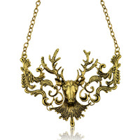 Stag Deer Bronze Necklace Ours is the Fury Game of Thrones Inspired