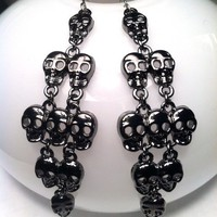 Haute39  | Fallen Skull Black Dangle Earrings | Online Store Powered by Storenvy