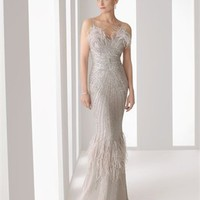Gorgeous mermaid off-the-shoulder beaded v-neck Cocktail Dresses RSC005 - Wholesale cheap discount price 2012 style online for sale.