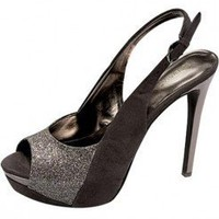 SPARKLY PEEPTOE SLING BACK-Heels-prom heels,high heels shoes,leopard heels,hot pink heels,cheap heels,party shoes heels,sexy heels,Platform Heels,high heel pumps,Wedge Heels,Flat Heels