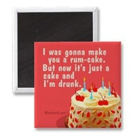 rum cake fridge magnet from Zazzle.com