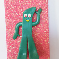 Pink Glitter Gumby iPhone 4 4s Hard Cover Case by kaylafenton