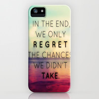 We Only Regret the Chances We Didn't Take iPhone & iPod Case by Pink Berry Pattern