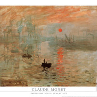 Impression, Sunrise, c.1872 Art Print by Claude Monet at Art.com