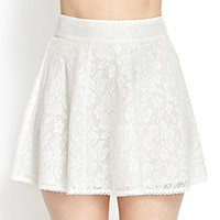 FOREVER 21 Crocheted Lace A-Line Skirt