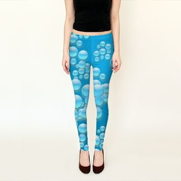Underwater Motif Art Print Leggings by Daniel Ferreira-Leites (Leggings)