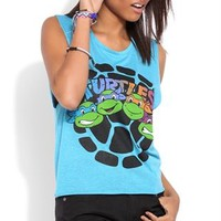 Deep Armhole Tank Top with Ninja Turtle Shell Screen