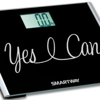 "SmartWay Precision XL Digital Bathroom Scale YES I CAN! Motivation Series w/ Extra Wide 440lb Step-On Platform ""2014 Limited Edition"""