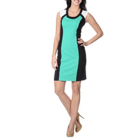 London Times Women's Textured Front Panel Dress