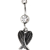 Morbid Metals 14G Tarnished Wings Navel Barbell