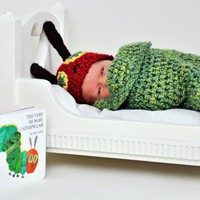 PDF Very Hungry Caterpillar Newborn Cocoon Set Crochet Pattern | TinyTiptoesBoutique - Children&#x27;s on ArtFire