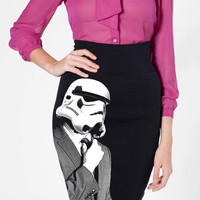 Storm Trooper SUIT UP Pencil Skirt American Apparel S M L XL