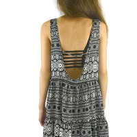Rin Aztec Dress - Black | Shop Civilized