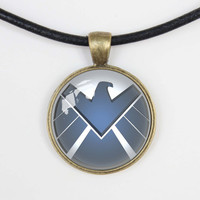 Agents of shield Necklace S.H.I.E.L.D. Logo, Agents of shield jewelry,   shield Pendant charm, Agents of shield gift,friend gift Necklace