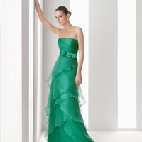 A-line strapless green organza 2012 Cocktail Dresses RSC0039 - Wholesale cheap discount price 2012 style online for sale.