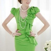 Green Ruffles Dress
