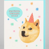 Turtle's Soup Doge Birthday Card - Urban Outfitters
