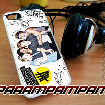 5SOS Colorfull Photos for iPhone 4/4s/5/5s/5c - iPod 4/5 - Samsung Galaxy s3 i9300/ s4 i9500 - Black/White