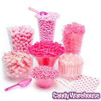 Pink Candy Buffet Kit: 25 to 50 Guests | CandyWarehouse.com Online Candy Store