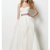 Buy Elegant Exquisite Organza Satin A-line Sweetheart Wedding Dress