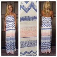 Boardwalk Strapless Maxi Dress
