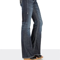 vigoss ® Star stitch and sequin bootcut jeans