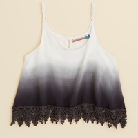 Vintage Havana Girls' Ombre Crochet Hem Tank - Sizes S-XL