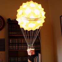 $295.00 Custom Hot Air Balloon Paper Lantern Sculpture by GHIlluminations