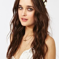 Mulberry Rose Crown - Ivory in  Accessories at Nasty Gal