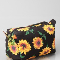 Sunflower Dopp Makeup Bag