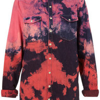 MOTO Pink Dip Dye Western Shirt - Denim - Apparel - Topshop USA