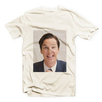 IVO-021 - Ivory Tshirt - Benedict Cumberbatch (Color version) - Cotton Blend Fashion T-Shirt