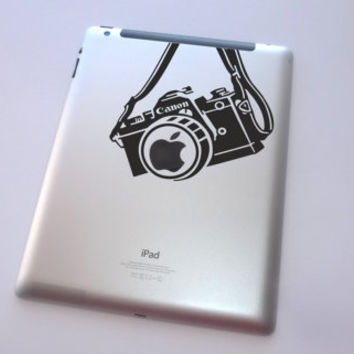 Canon camera decal for iPad