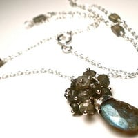 Labradorite Cluster Necklace in Sterling by OddsAndEndsByKaley