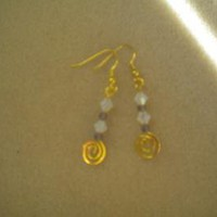 Swarovski Swirl Earrings by IllusionsbyDonna on Zibbet