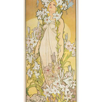 The Flowers: Lily, 1898 Giclee Print by Alphonse Marie Mucha at Art.com