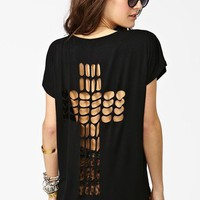 Cross It Out Tee - Nasty Gal