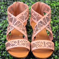 Isle of Sun Nude Strappy Cutout Sandal